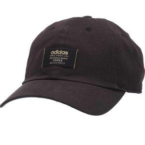 Adidas Three Stripe Life Black Ball Cap Hat